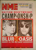 Portada de NME anunciando The Battle Of Britpop