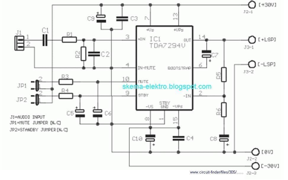 power amplifier 60 watt dengan ic tda794