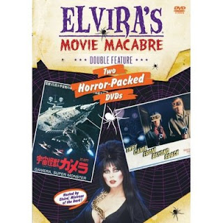 Cover of the Elvira Movie Macabre DVD 2-set featuring Gamera, and Amazon link