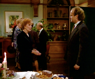 Frasier at Dr. Newman's wake