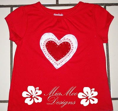 Miamoo Designs Valentine Heart Applique T Shirt Tutorial