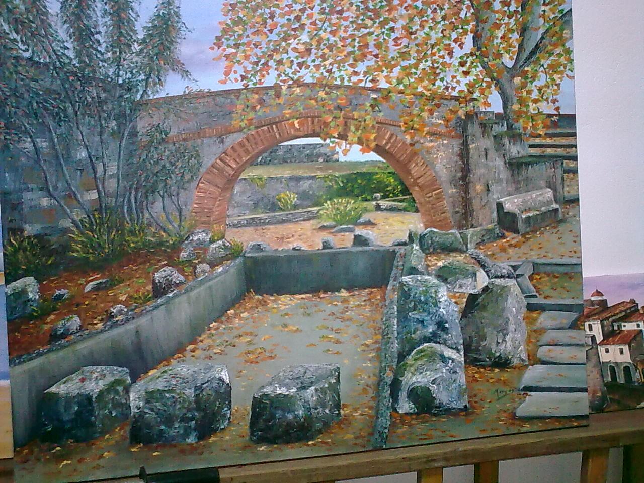 Manitas mery jardines de badajoz oleo sobre lienzo - Oleos de jardines ...