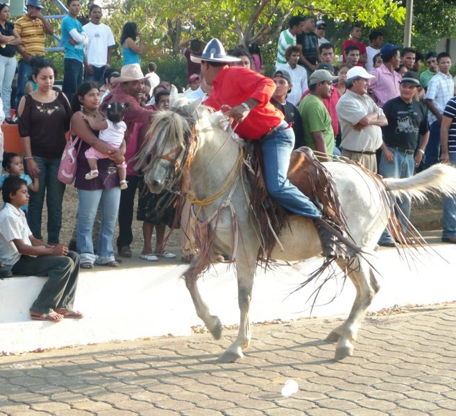 Local cowboy, working the crowd
