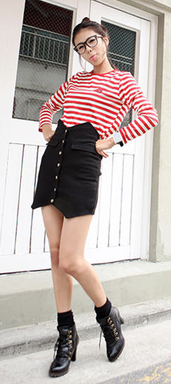 Fashion of Short Skirts in Western and Asian Countries