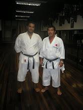 Eu e sensei Yoshizo Machida - Presidente FKTEP