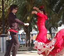 Flamenco dancers in Mijas