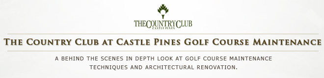 The Country Club at Castle Pines Golf Course Maintenance