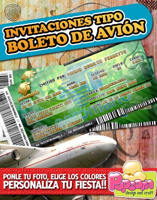 Increíble Plantilla De Boleto De Avión Bandera - Colección De ...