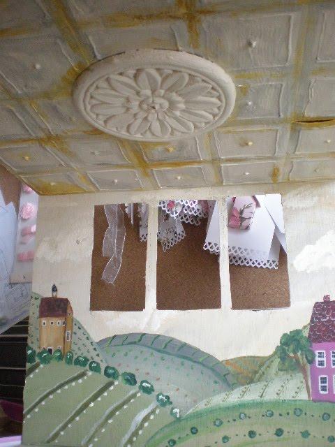 Cinderella Moments Farmhouse Dollhouse Mural And Tin Ceiling