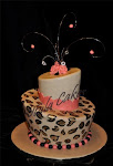 Leopard Topsy Turvy cake