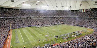 A view from inside the HHH Metrodome during a Vikings Football Game