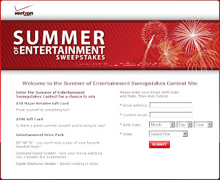 Verizon's Summer of Entertainment Sweepstakes