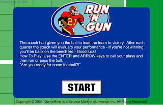 Play Run and Gun Football Game online at learn 4 good