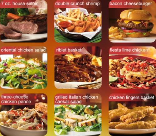 chili menu nutritional information: