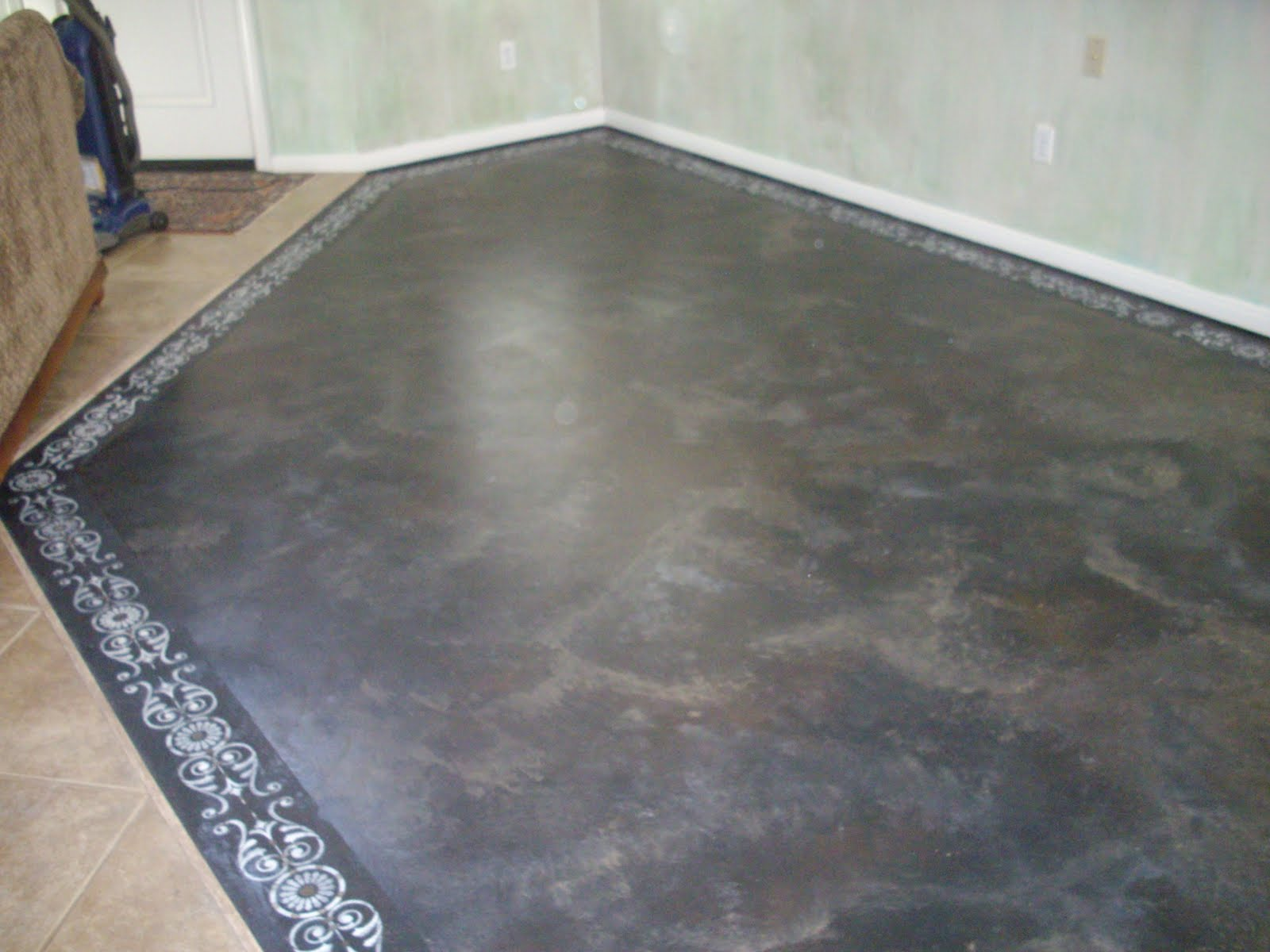 grey stained concrete floors. Anythingology  Step By Instructions On How To Prep And Paint Concrete Floors