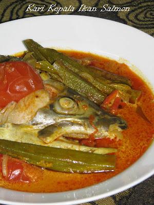 masak kari kepala ikan saya gunakan ikan mayong atau ke
