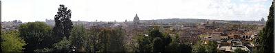 Panorámica de Roma desde Villa Medici