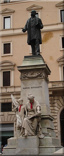 Monumento a Minghetti en la Piazza di San Pantaleon