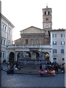 Piazza di Santa Maria in Trastevere.