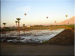 Luxor a vista de pájaro en Globo