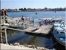 Falucas que cruzan el Nilo a Luxor