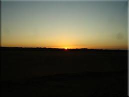 Amanece camino de Abú Simbel