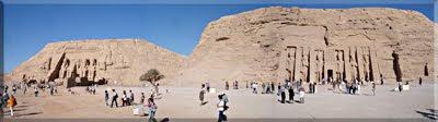 Panorámica de los templos de Abú Simbel