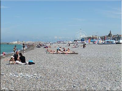 Pedregosa playa de Dieppe