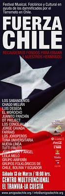 13 marzo 2010 - Festival musical - FUERZA CHILE