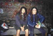 con Claudio Oconnor en cemento desp de un show