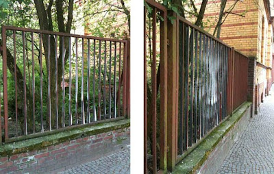 Fence on the Street Illusion