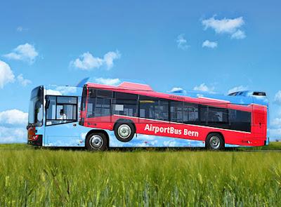 AirportBus Bern Bus Advertisement