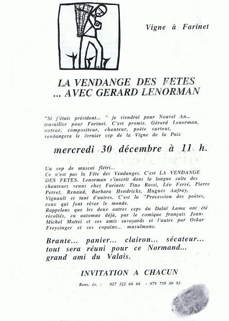 Gérard Lenorman à Saillon ce mercredi 29 décembre 2009