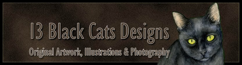 13 Black Cats Designs
