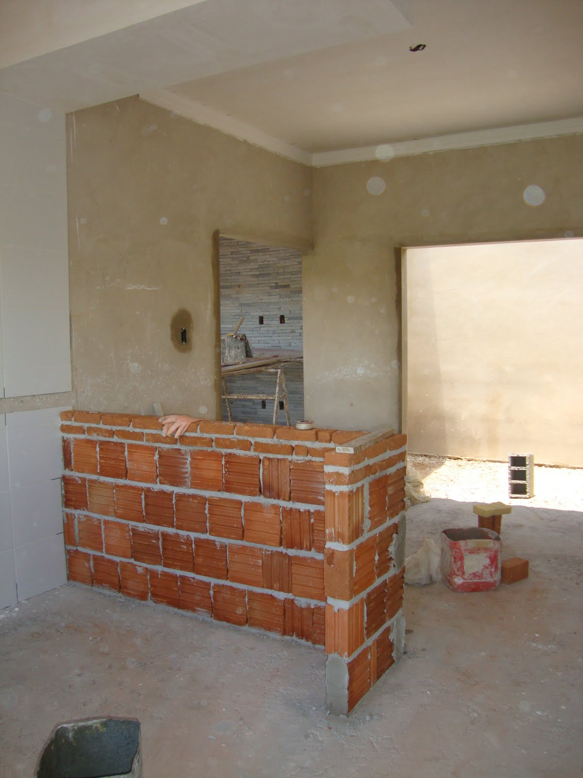 Construindo sobre a rocha: Começa a sanca e meu balcão da cozinha #A47327 1200 1600
