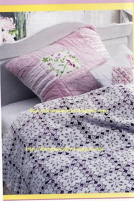 dantel yatak örtüsü anlatimi