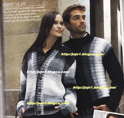 batik ipten erkek kazak ve bayan hirka anlatimi