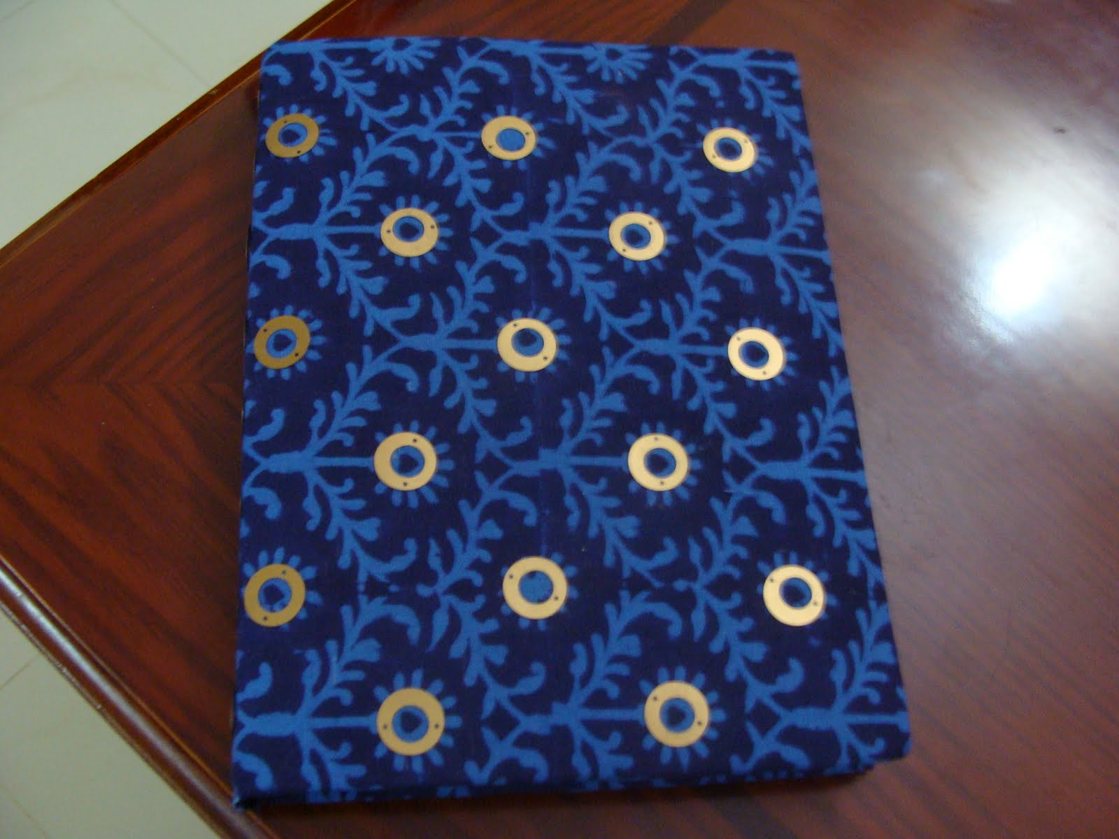 Reusable Fabric Book Cover ~ The colour mill cloth book cover