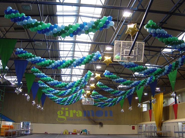 Decoración con globos de Giramón