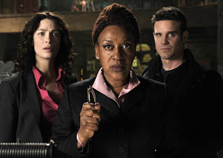 Joanne Kelly, CCH Pounder and Eddie McClintock of Syfy's 'Warehouse 13'