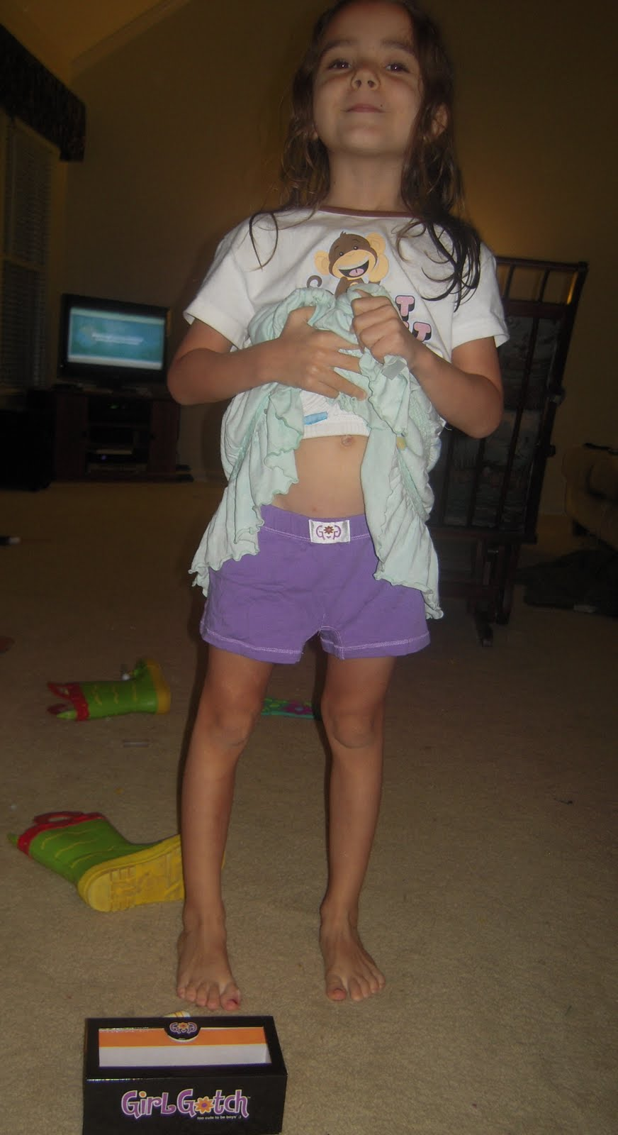 young daughter in her undies