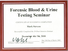 2009 Forensic Blood Testing Seminar Certificate