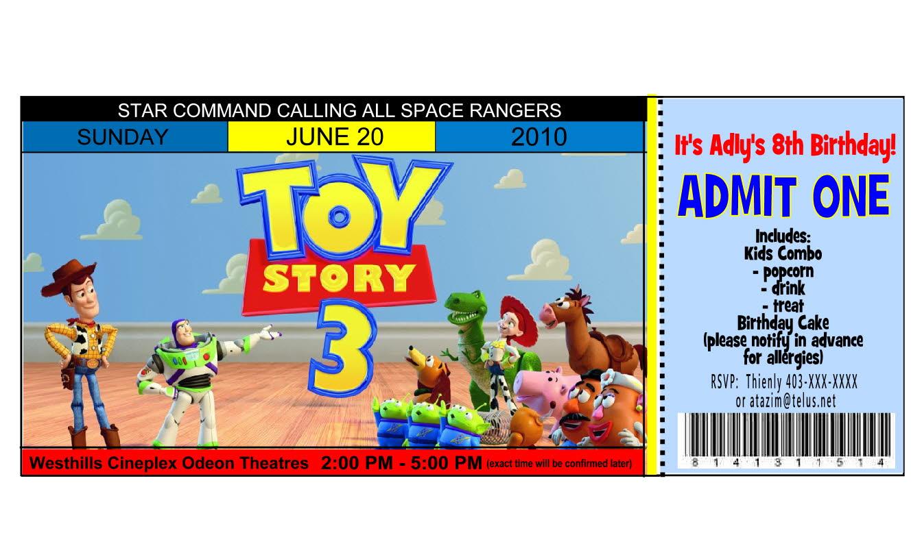 Toy Story Invitation Templates