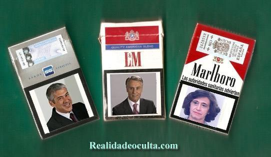 Maços de tabaco...