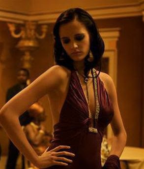 Eva Greens Purple Dress In Casino Royale