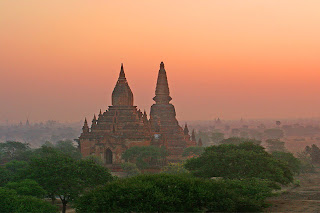 The temple plain of Bagan