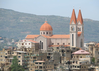 St Saba Church, Bcharré overlooking the Kadisha Valley