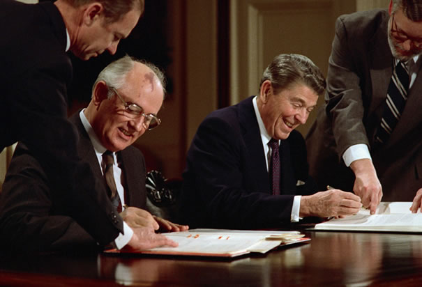 the role of ronald reagan and mikhail gorbachev in ending the cold war