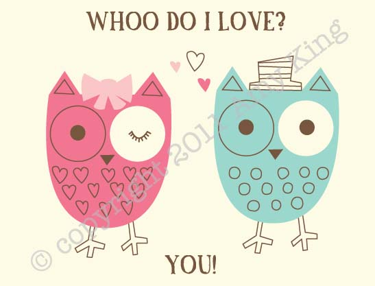 Owl Valentines Card