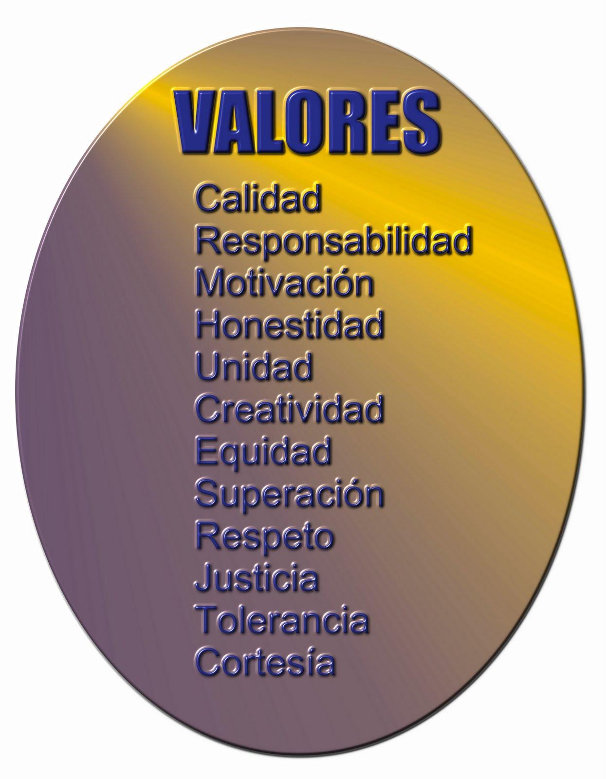 valores de la sociedad: